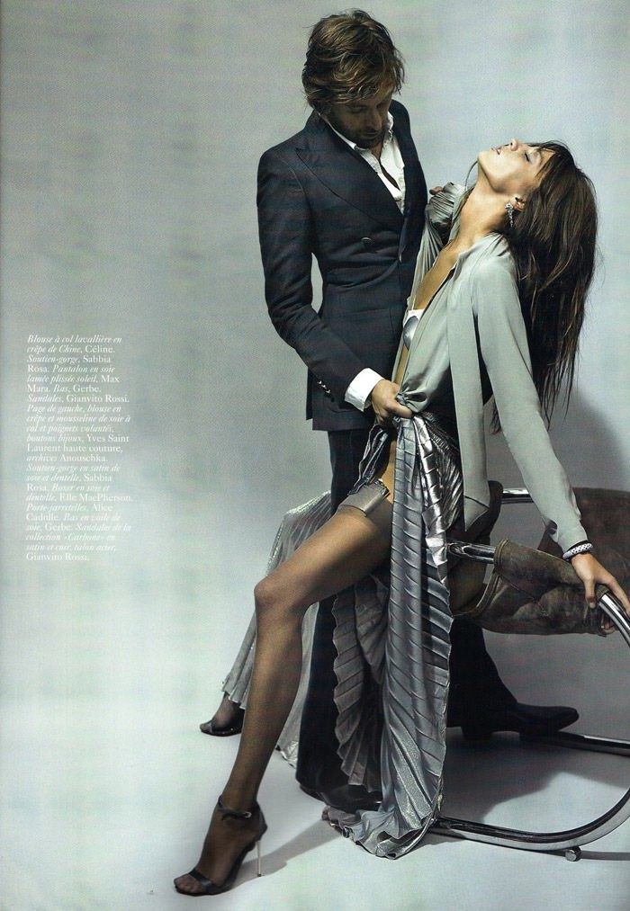 "Daria Werbowy and Francesco Vezzoli photographed by Mario Testino in ""La Décadanse"" for Vogue Paris, May 2010 4"