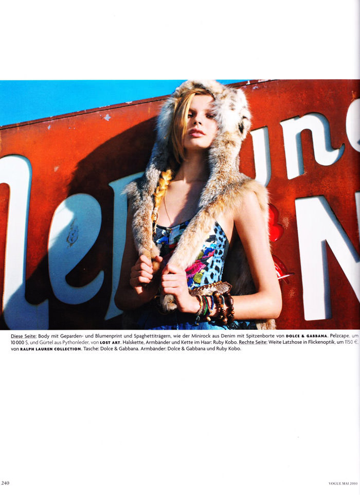"""Magdalena Frackowiak photographed by Horst Diekgerdes in """"Feel Free"""" for Vogue Germany, May 2010 3"""
