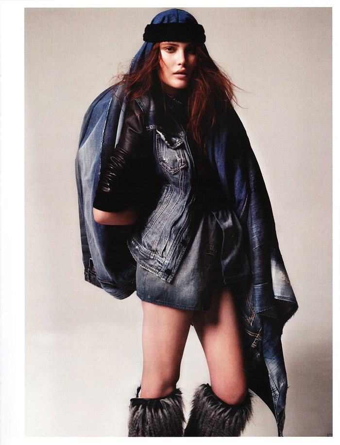"""Catherine McNeil photographed by Indlekofer & Knoepfel in """"Stoff-Art"""" for Vogue Germany, May 2010 5"""