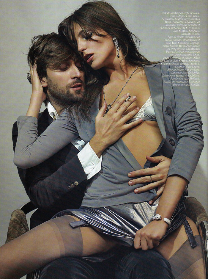 "Daria Werbowy and Francesco Vezzoli photographed by Mario Testino in ""La Décadanse"" for Vogue Paris, May 2010 8"