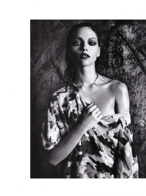 "Sasha Pivovarova photographed by Mario Sorrenti in ""Uniform: A Singular Mood"" for Vogue Italia, April 2010 8"
