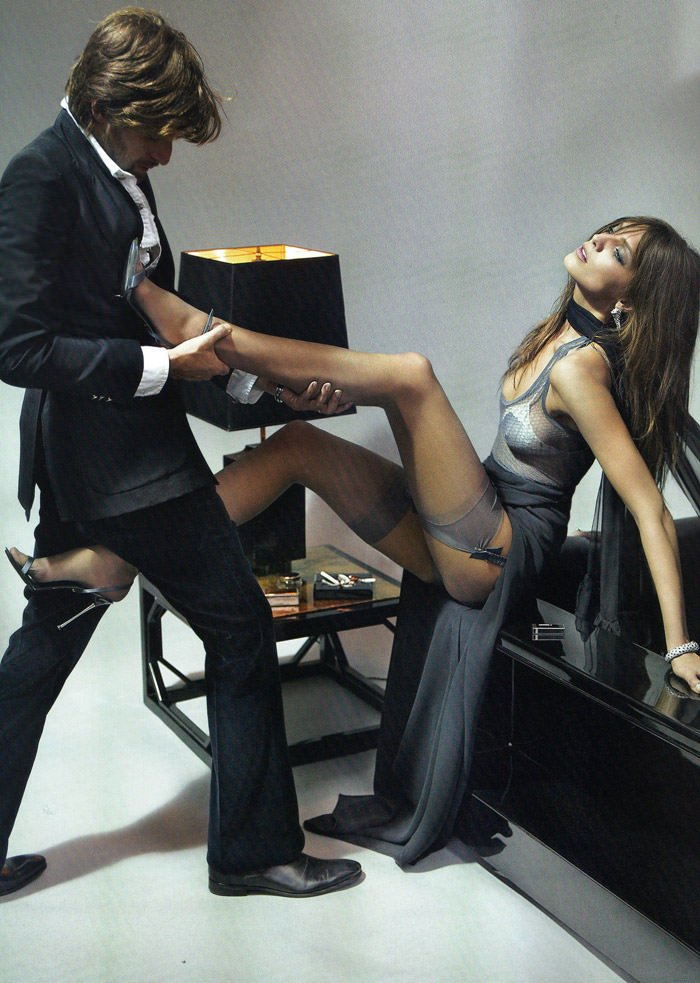 "Daria Werbowy and Francesco Vezzoli photographed by Mario Testino in ""La Décadanse"" for Vogue Paris, May 2010 9"