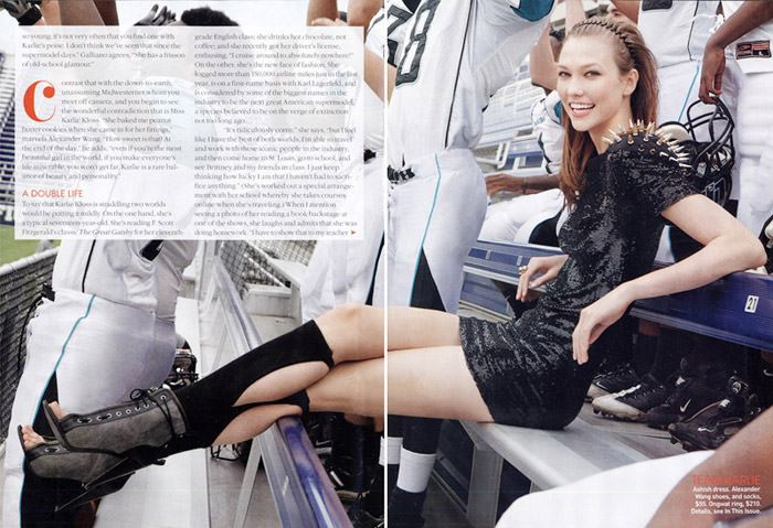 "Karlie Kloss photographed by Patrick Demarchelier in ""The M.V.P."" for Teen Vogue, May 2010 7"