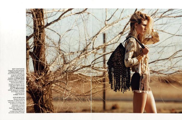 """Natasa Vojnovic photographed by Nicolas Moore in """"Autostop"""" for Vogue España, April 2010 4"""