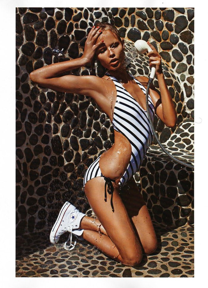 """Natasha Poly photographed by Mario Sorrenti in """"Plage Privée"""" for Vogue Paris, May 2010 11"""