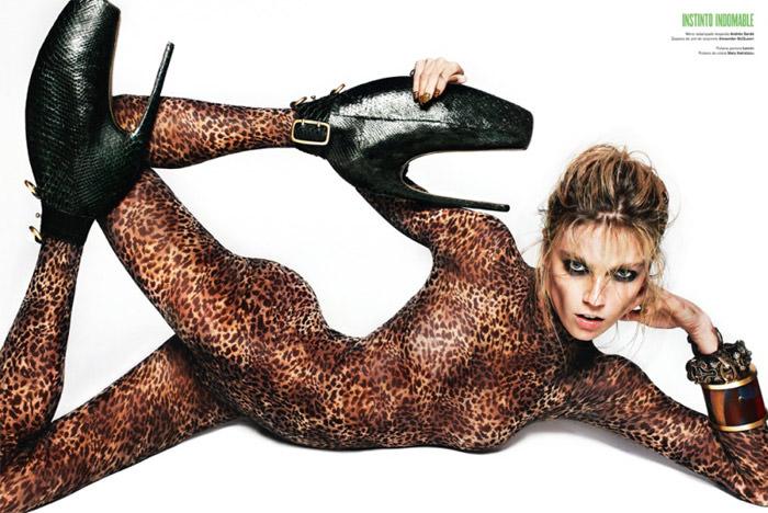 "Masha Novoselova photographed by Txema Yeste in ""Go Wild"" for V Magazine Spain, April 2010 3"