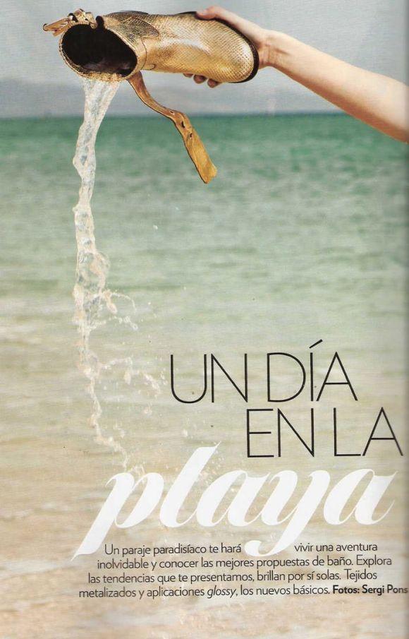 "Sophie Vlaming photographed by Sergi Pons in ""Un Día En La Playa"" for Glamour Spain, June 2010 1"