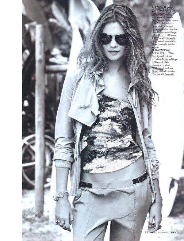 """Behati Prinsloo photographed by Matt Jones in """"Surfin' Costa Rica"""" for Elle Italia, June 2010 14"""