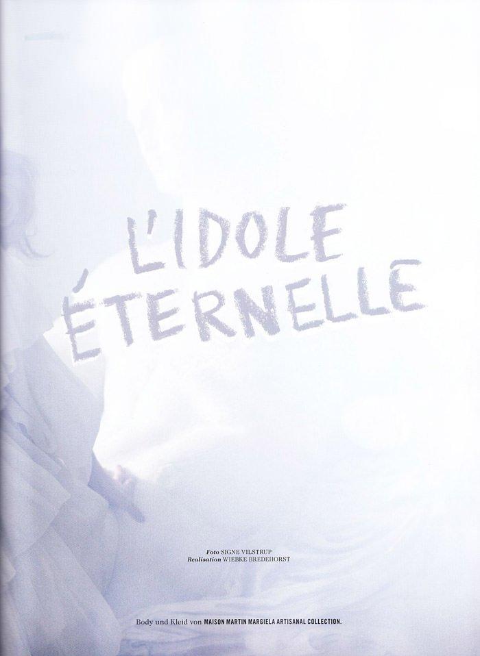 Bregje Heinen photographed by Signe Vilstrup in L'idole Éternelle for Tush #2, Spring 2010 2