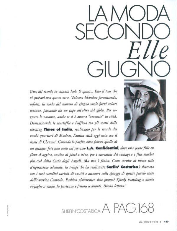 """Behati Prinsloo photographed by Matt Jones in """"Surfin' Costa Rica"""" for Elle Italia, June 2010 2"""