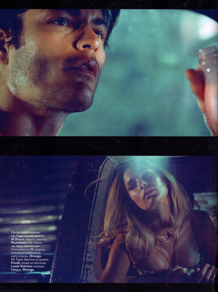 """Tori Praver & Tyson Ballou photographed by Sharif Hamza in """"9 1/2 Minutes"""" for Vogue Russia, June 2010 6"""