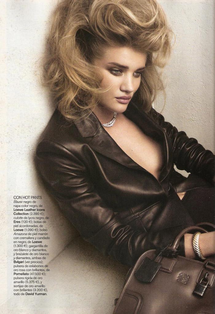 "Rosie Huntington-Whiteley photographed by Victor Dermachelier in ""Etiqueta Negra"" for Vogue España, July 2010 1"