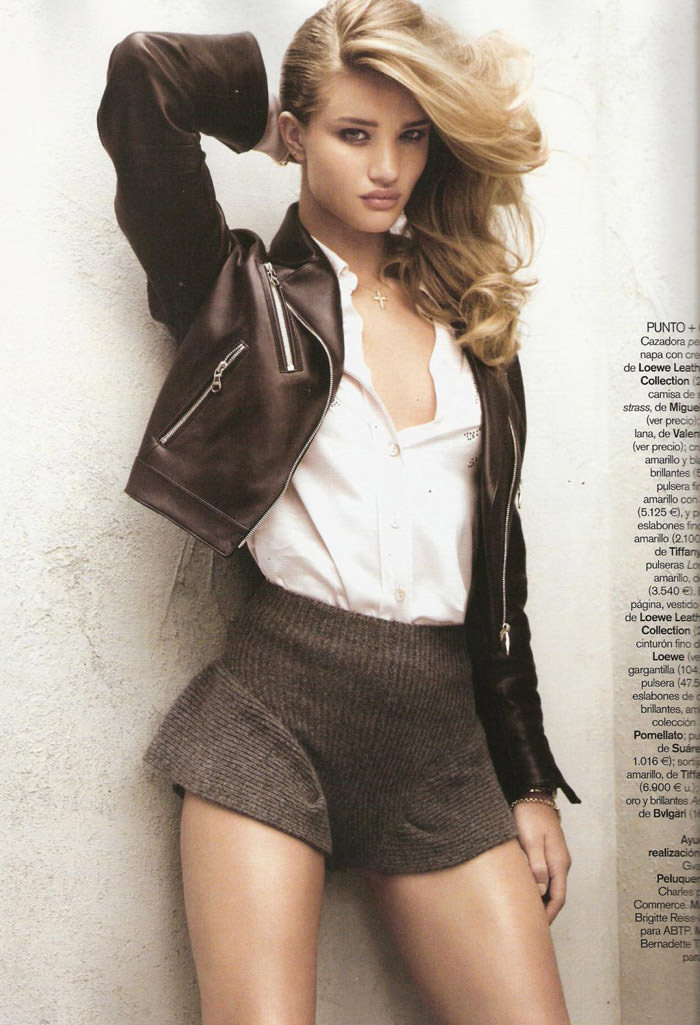 "Rosie Huntington-Whiteley photographed by Victor Dermachelier in ""Etiqueta Negra"" for Vogue España, July 2010 7"