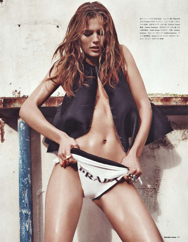 """Edita Vilkeviciute photographed by Sebastian Kim in """"Heat It Up!"""" for Numéro Tokyo, July / August 2010 2"""