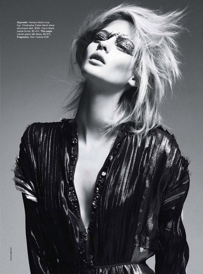 """Lauren Brown photographed by Nicole Bentley in """"Lauren -- In The Flash"""" for Vogue Australia, August 2010 3"""
