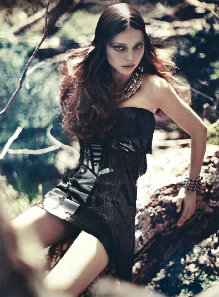 "Miranda Kerr photographed by Sebastian Kim in ""Messe Noire"" for Numéro #115 4"