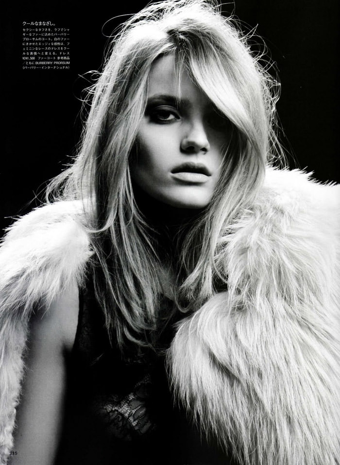 """Anna Maria Jagodzinska photographed by Hedi Slimane in """"Soft Machine"""" for Vogue Nippon, August 2010 5"""
