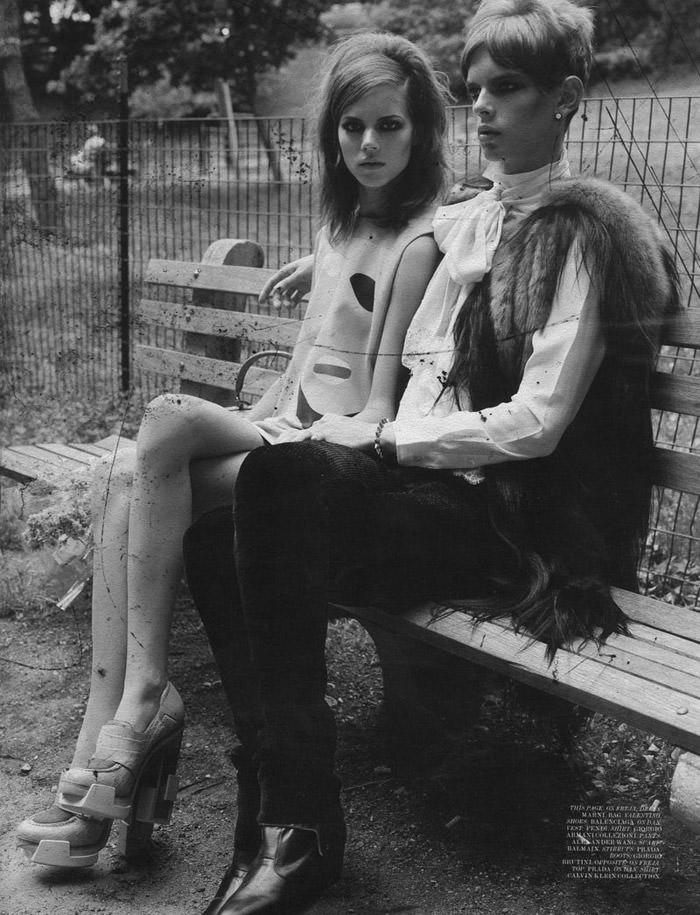 "Freja Beha Erichsen photographed by Craig McDean in ""Modern Love"" for Interview Magazine, August 2010 9"
