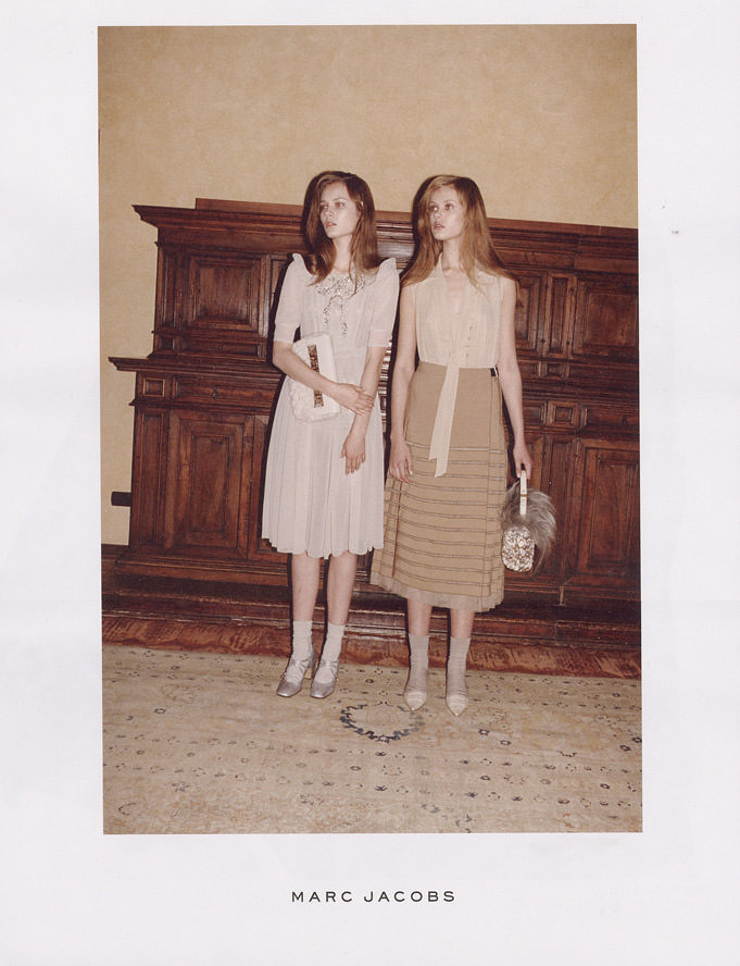 Marc Jacobs Ad Campaign - Fall & Winter 2010 / 2011: Monika Jagaciak and Frida Gustavsson photographed by Juergen Teller 1