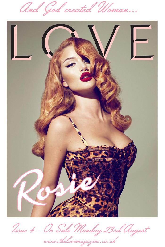 Love Magazine, September 2010: Cover Preview w/ Rosie Huntington-Whiteley 1