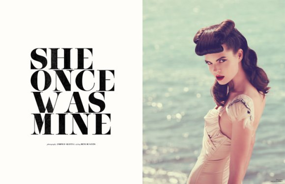 "Lina Navickaite & Ella Kandyba photographed by Andoni & Arantxa in ""She Once Was Mine"" for The Ones 2 Watch 1"