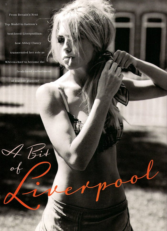 """Abbey Clancy photographed by Alasdair McLellan in """"A Bit Of Liverpool"""" for Love Magazine #4 2"""