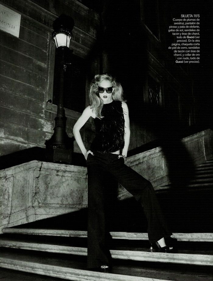 "Raquel Zimmermann photographed by Mariano Vivanco in ""La Dolce Vita (Revisited) for Vogue España, September 2010 11"