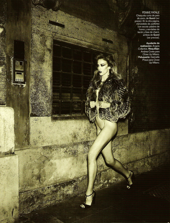 "Raquel Zimmermann photographed by Mariano Vivanco in ""La Dolce Vita (Revisited) for Vogue España, September 2010"