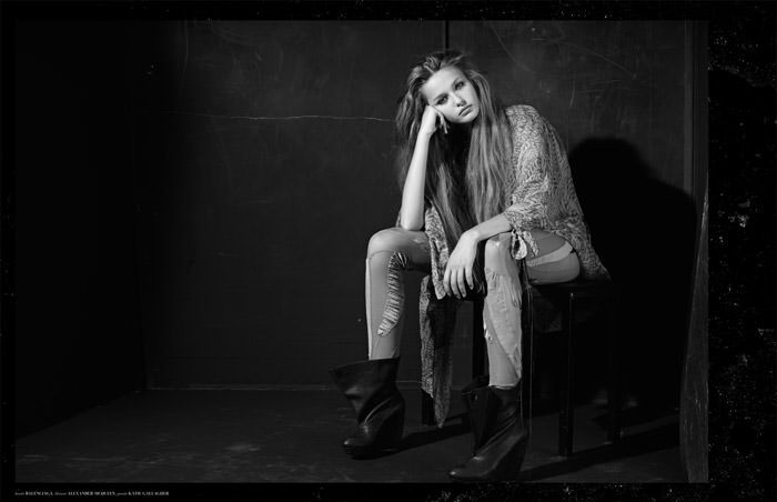 """Kristina Romanova photographed by Eric Guillemain in """"The Longest Night"""" for The Ones 2 Watch 8"""