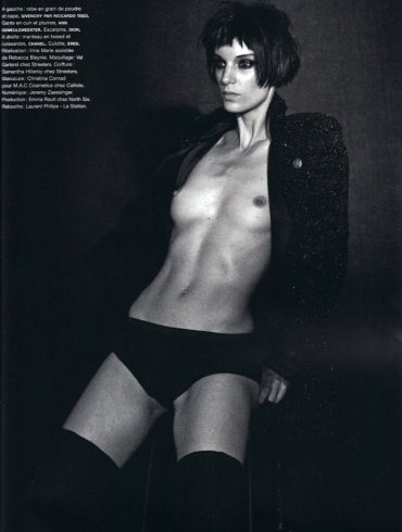 """Iris Strubegger photographed by Peter Lindbergh in """"Smoke Gets In Your Eyes"""" for Numéro #116, September 2010 1"""