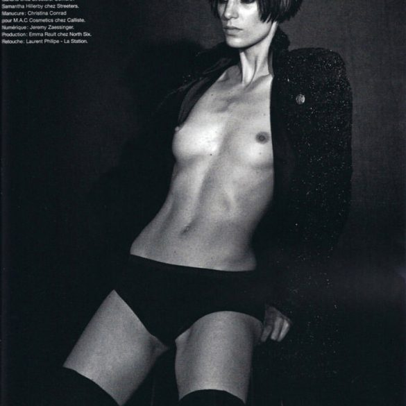 "Iris Strubegger photographed by Peter Lindbergh in ""Smoke Gets In Your Eyes"" for Numéro #116, September 2010 1"