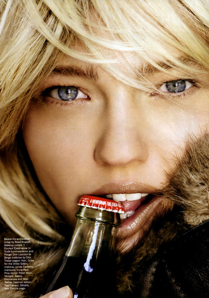 """Sasha Pivovarova photographed by Mario Testino in """"Best Of Beauty"""" for Allure, October 2010 1"""