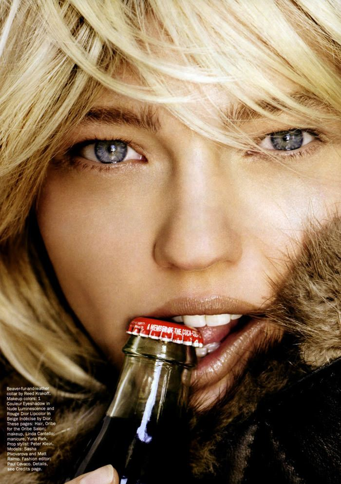 """Sasha Pivovarova photographed by Mario Testino in """"Best Of Beauty"""" for Allure, October 2010 2"""