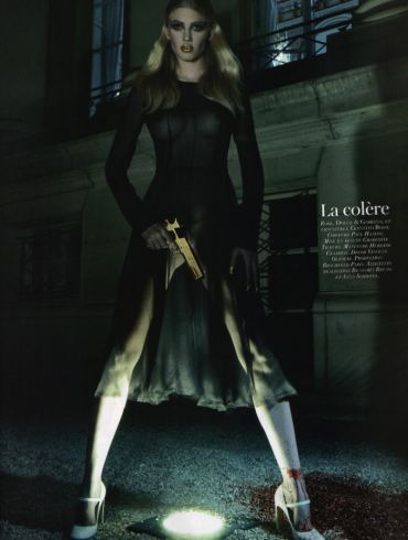 """Lara Stone photographed by Steven Klein in """"Les péchés"""" for Vogue Paris: 90th Anniversary Issue, October 2010 1"""