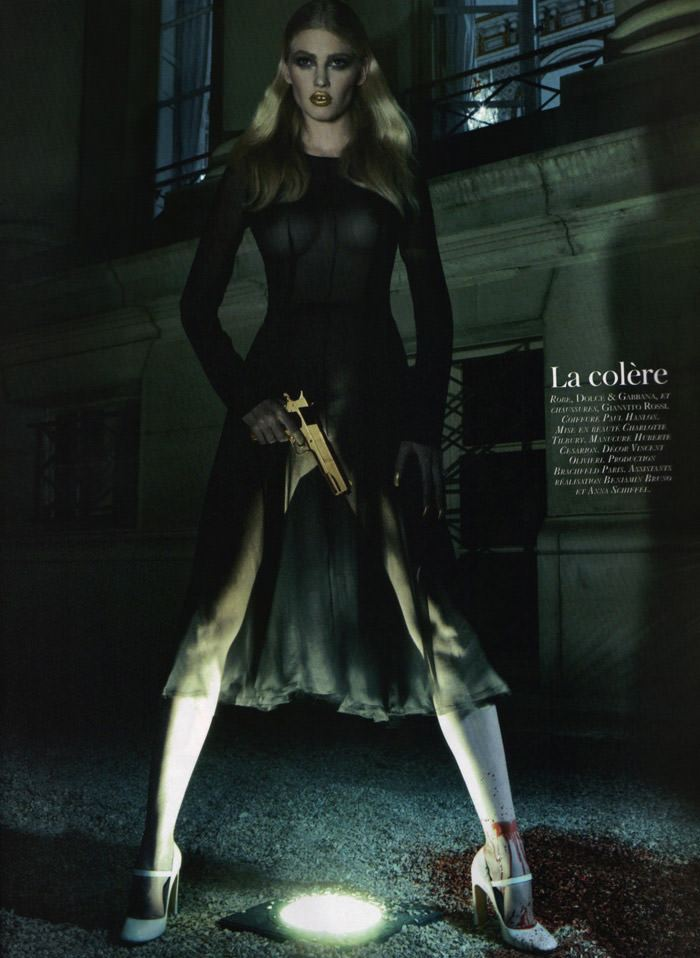 "Lara Stone photographed by Steven Klein in ""Les péchés"" for Vogue Paris: 90th Anniversary Issue, October 2010 9"