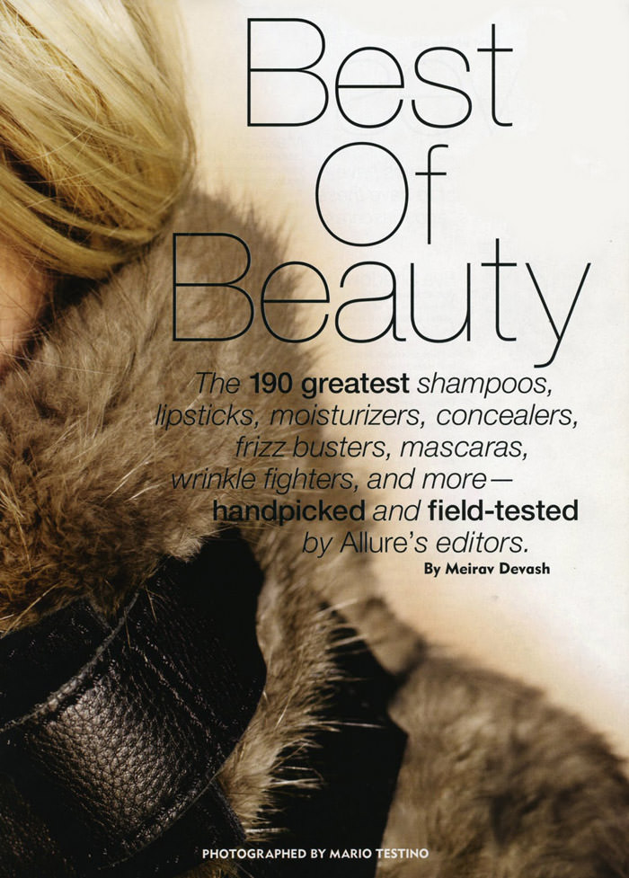 """Sasha Pivovarova photographed by Mario Testino in """"Best Of Beauty"""" for Allure, October 2010 3"""