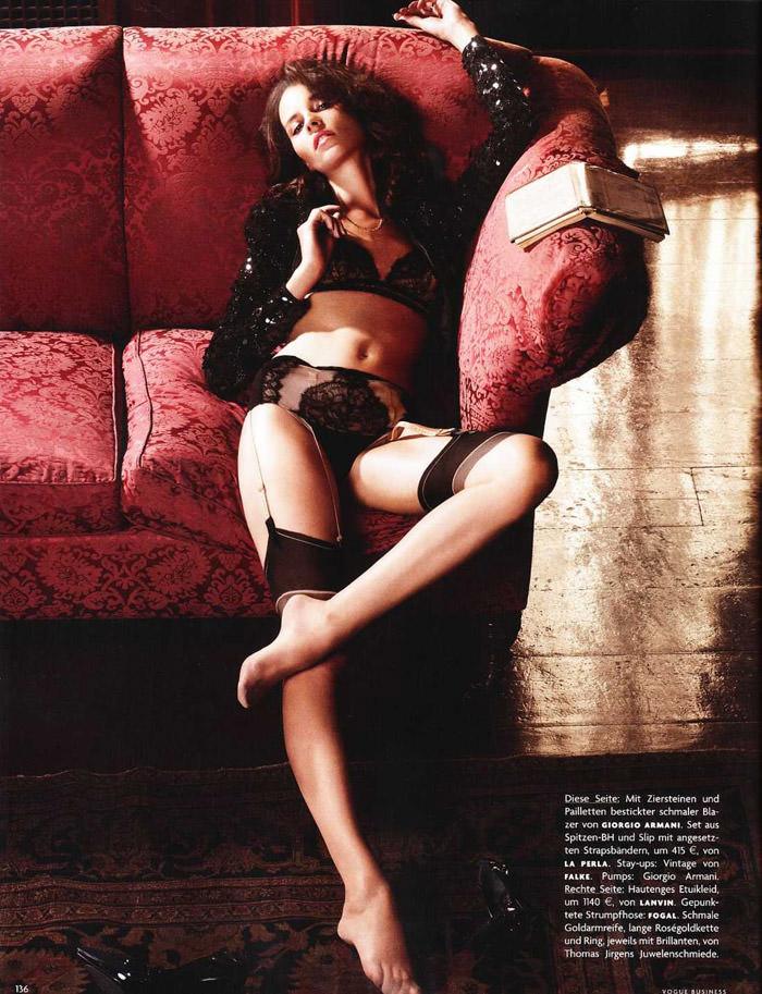 Egle Tvirbutaite photographed by Karen Collins for Vogue Deutschland, October 2010