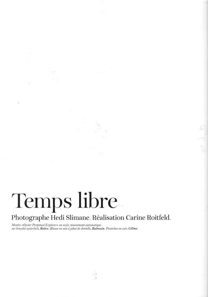 "Freja Beha Erichsen photographed by Hedi Slimane in ""Temps libre"" for Vogue Paris, November 2010 2"