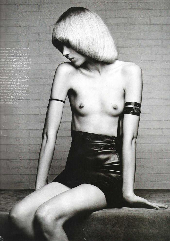 "Freja Beha Erichsen photographed by Hedi Slimane in ""Temps libre"" for Vogue Paris, November 2010"