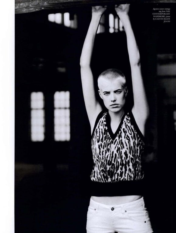 """Agyness Deyn photographed by Boo George in """"Soldier Boy"""" for Love Magazine #4, Fall & Winter 2010 3"""