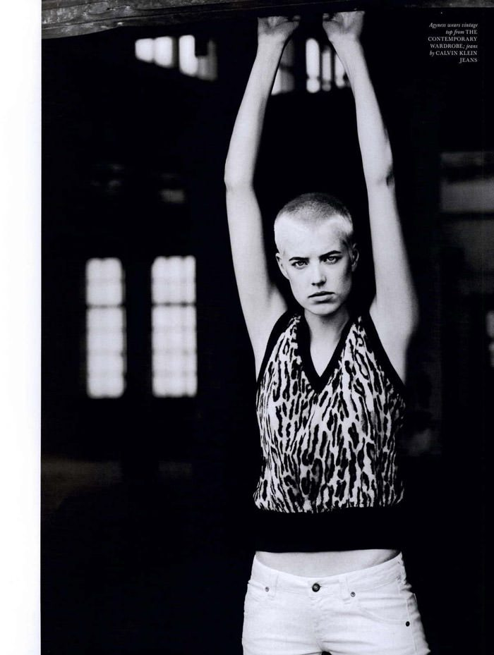 """Agyness Deyn photographed by Boo George in """"Soldier Boy"""" for Love Magazine #4, Fall & Winter 2010 4"""