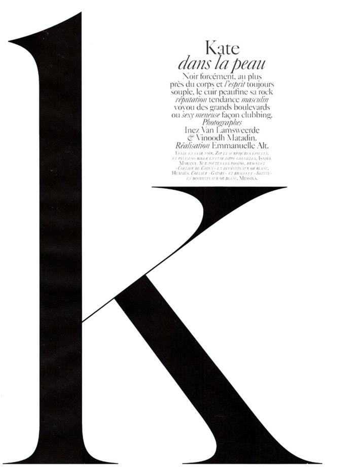 """Kate Moss photographed by Inez & Vinoodh in """"Dans La Peau"""" for Vogue Paris, September 2010 2"""