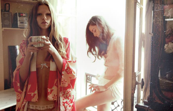 """Virginia Guidetti & Kat Hessen photographed by Alice Rosati in """"Reverie"""" for The Ones 2 Watch 7"""