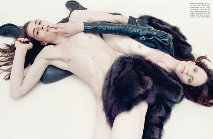 """""""Venus In Furs"""" photographed by Steven Meisel for Vogue Italia, November 2010 8"""