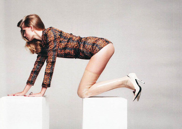 """Julia Stegner photographed by Claudia Knoepfel & Stefan Indlekofer in """"Freistil"""" for Vogue Deutschland, December 2010"""