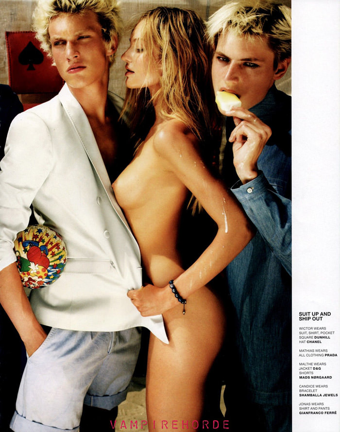 """Candice Swanepoel photographed by Mario Testino in """"Candice Does Copenhagen"""" for VMan, Fall 2010 6"""