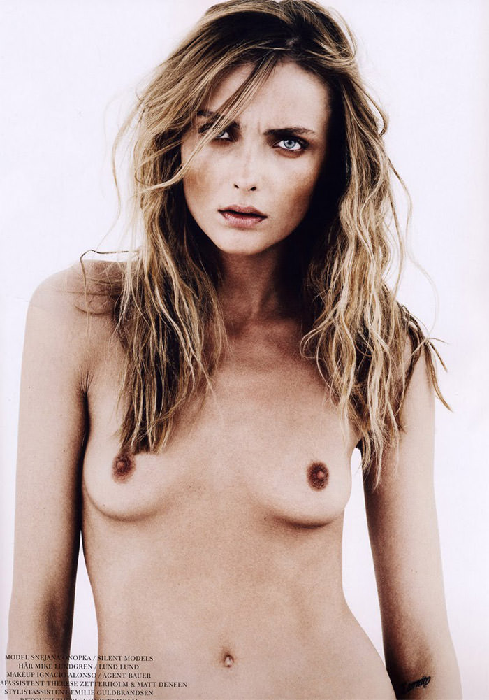 "Snejana Onopka photographed by Andreas Öhlund in ""Back To Basics"" for Cover, January 2011"