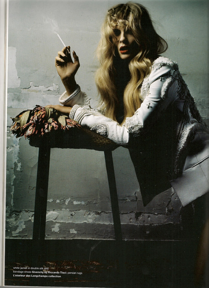"""Julia Stegner photographed by Daniele & Iango in """"Too Beautiful Julia"""" for Muse, Winter 2010 6"""