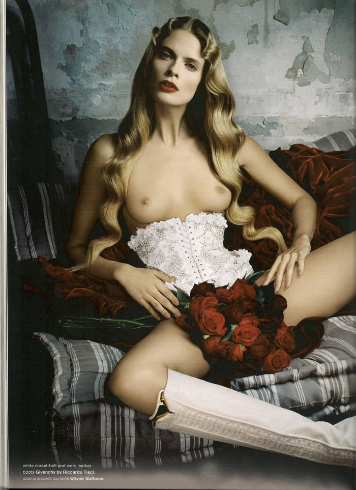 """Julia Stegner photographed by Daniele & Iango in """"Too Beautiful Julia"""" for Muse, Winter 2010 11"""