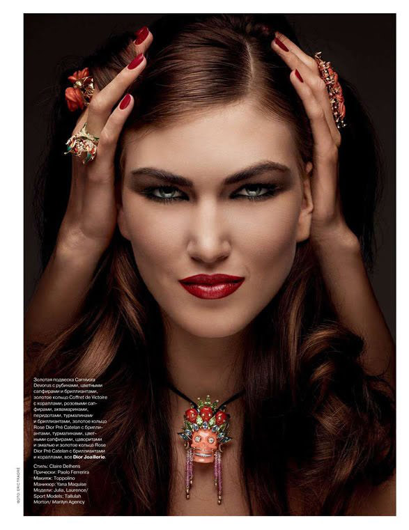 Tallulah Morton photographed by Eric Traoré for Tatler Russia, December 2010 7
